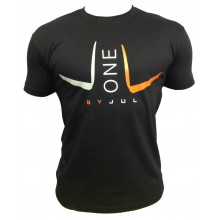 T-SHIRT LIGA ONE BY JUL HOMME NOIR ORANGE