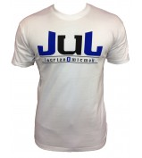 T-SHIRT  JUL 135  BLANC BLEU PETROLE NEW