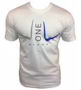 T-SHIRT LIGA ONE BY JUL HOMME BLANC BLEU