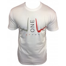 T-SHIRT LIGA ONE BY JUL HOMME BLANC ROUGE
