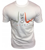 T-SHIRT LIGA ONE BY JUL HOMME BLANC ORANGE
