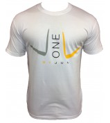 T-SHIRT LIGA ONE BY JUL HOMME BLANC JAUNE