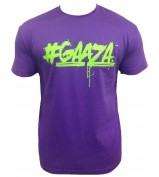 T-Shirt GAAZA VIOLET LOGO VERT