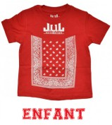 T-SHIRT  JUL 135  LIGA ONE BY JUL ENFANT NOIR ROUGE