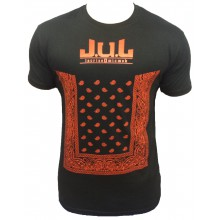 T-SHIRT LIGA ONE BY JUL HOMME NOIR ROUGE BANDANA