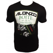 T-Shirt  ALONZO LA BOITE A CHAUSSURES NOIR