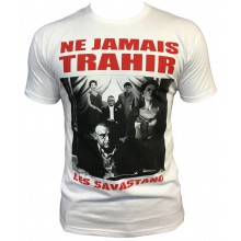T-shirt Gomorra Italie Naple Blanc NE JAMAIS TRAHIR
