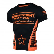 Maillot Thaïlande StreetFight Noir Orange