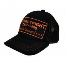 Casquette Thaïlande StreetFight Noir Orange