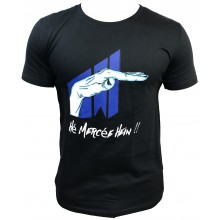 T-shirt Hé mercée hein !!! NOIR BLEU MARINE