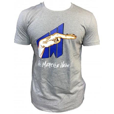 T-shirt Hé mercée hein !!! GRIS ORANGE