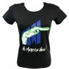 T-shirt Hé mercée hein !!! FEMME NOIR