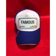 I Dubai Casquette UAE Plaque FAMOUS 1 Bleu Blanc