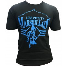 T-shirt les petits marseillais kalash NOIR Bleu