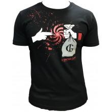T-shirt Infernal game Noir rouge sac