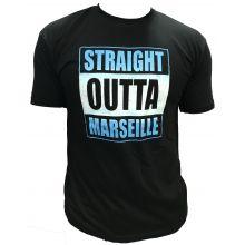 Tshirt NOIR STRAIGHT OUTTA MARSEILLE