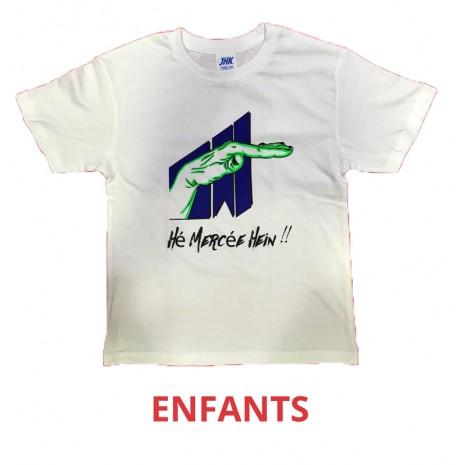 T-shirt Hé mercée hein - Oiseau Tyson - ENFANT - BLANC VERT