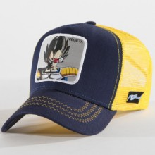 Dragon Ball Z - Casquette Trucker Vegeta Bleu Marine Jaune