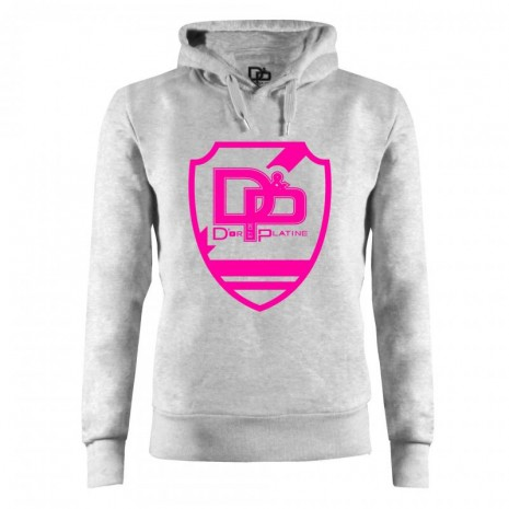 Sweat capuche Blason Fluo D&P JUL ROSE