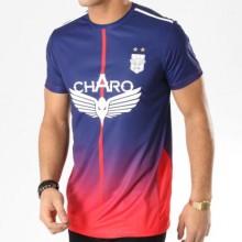 Charo - Tee Shirt De Sport Record Bleu Marine Rouge