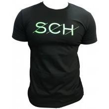 Tshirt SCH noir SCH logo vert