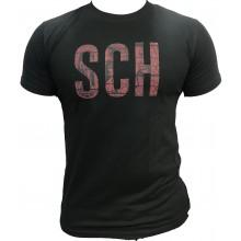Tshirt SCH noir SCH logo rouge