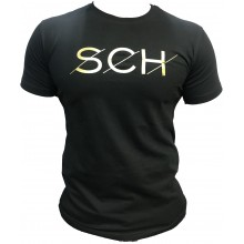 Tshirt SCH noir SCH logo jaune
