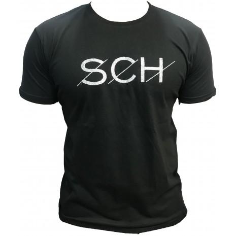 Tshirt SCH noir SCH logo argent