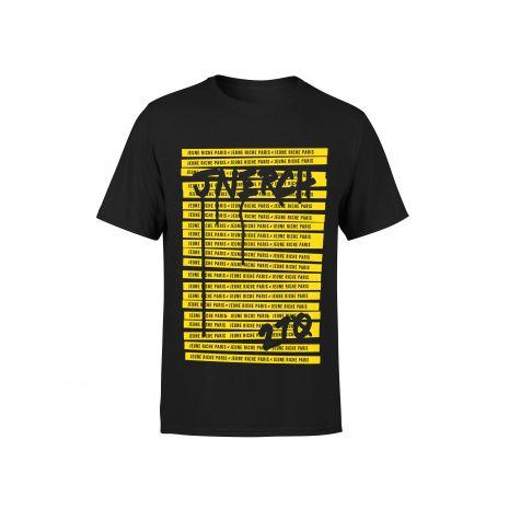 T-shirt Do Not Cross Noir JEUNE RICHE