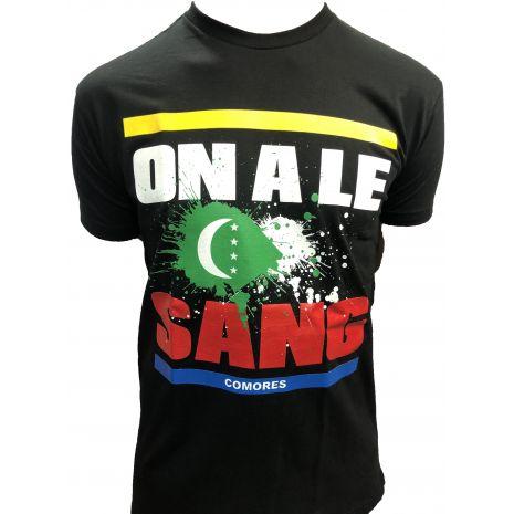 T-Shirt on a le sang COMORES 2020