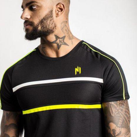 Ninho - T-shirt diamond noir et jaune
