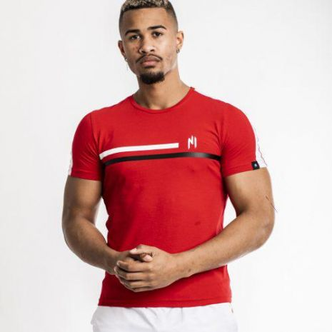 Ninho - T-shirt shaft rouge & blanc
