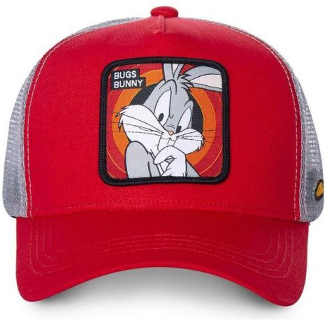 CAPSLAB - CASQUETTE TRUCKER BUNNY BUGS ROUGE BLANC by Capslab