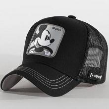 CAPSLAB Casquette Trucker Mickey Noir