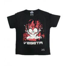 T-shirt DBZ VEGETA ENFANT - NOIR ROUGE