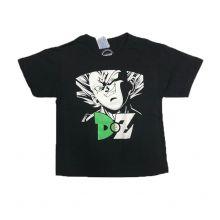 T-shirt DBZ VEGETA ALGERIEN COMME ENFANT - NOIR VERT